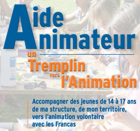 plaquette Aide animateur - un tremplin vers l'animation