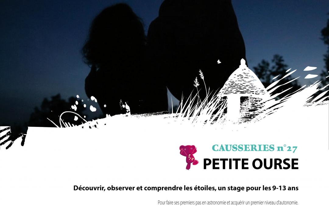 Stage Astronomie «Petite Ourse» du 3 au 5 Avril