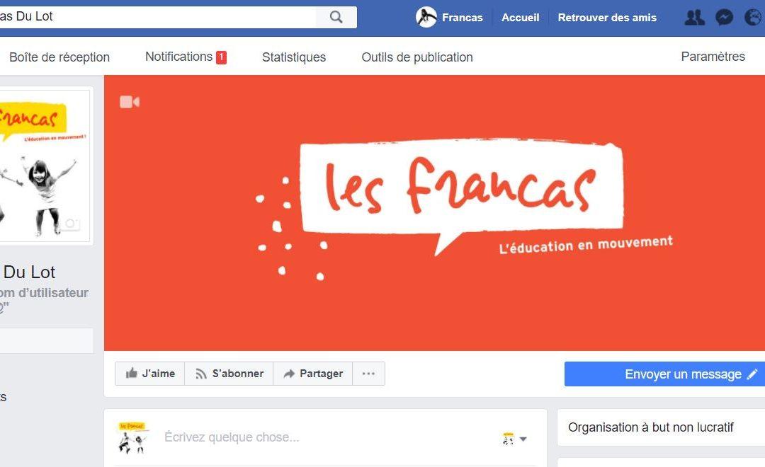 Les Francas du Lot sont sur Facebook !