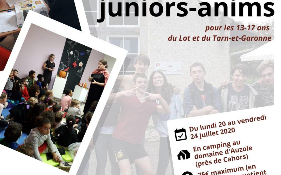 Séjour juniors-anims – été 2020