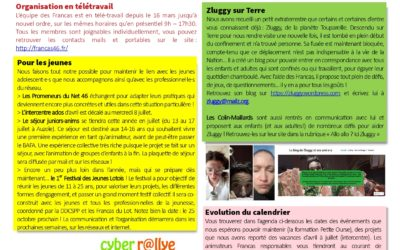 Newsletter spéciale confinement avril 2020